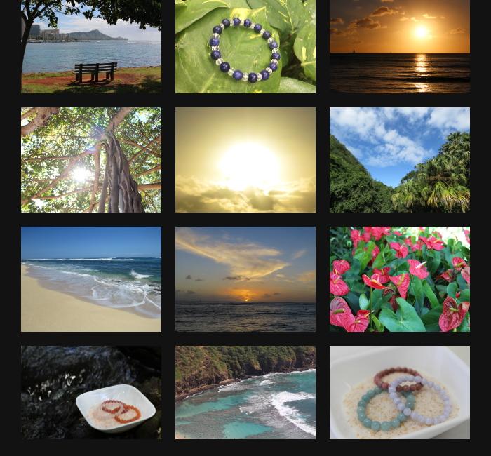 天然石・パワーストーンをハワイの大自然でヒーリングエネルギーをチャージします。