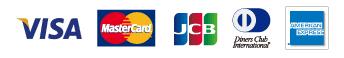 クレジットカード対応ブランド:VISA、MASTER、JCB、Diners、AMEX