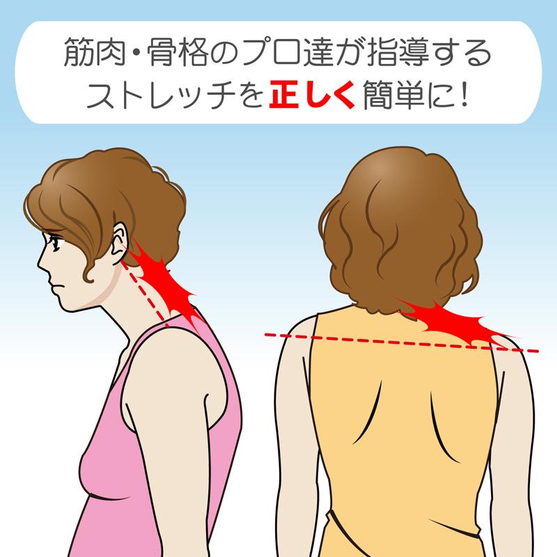 首の前傾、側弯、肩の左右差は首コリ肩コリの原因になります。
