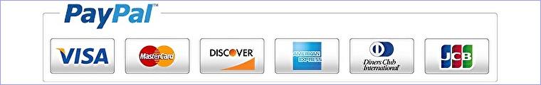 ペイパルのご利用できるクレジットカード表