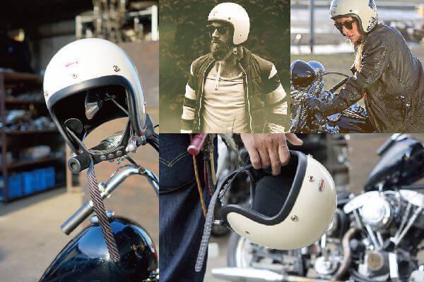 オーシャンビートル 500TXジェットヘルメット アイボリー