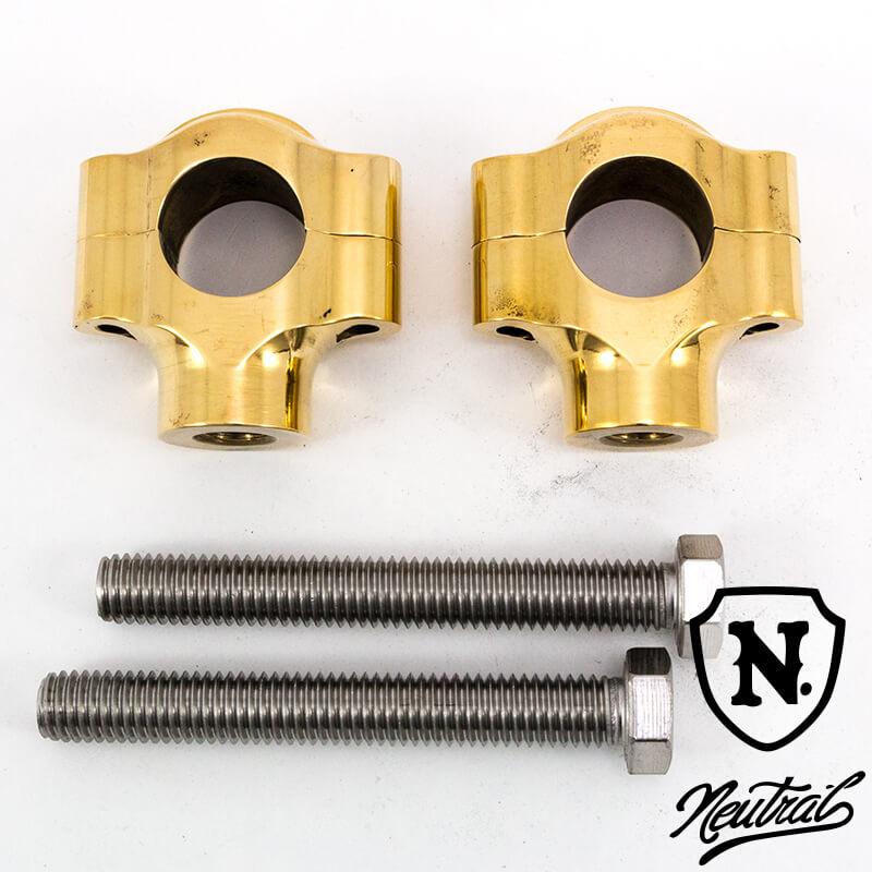 1.5インチリブドショーティーライザー/真鍮 1インチハンドル用