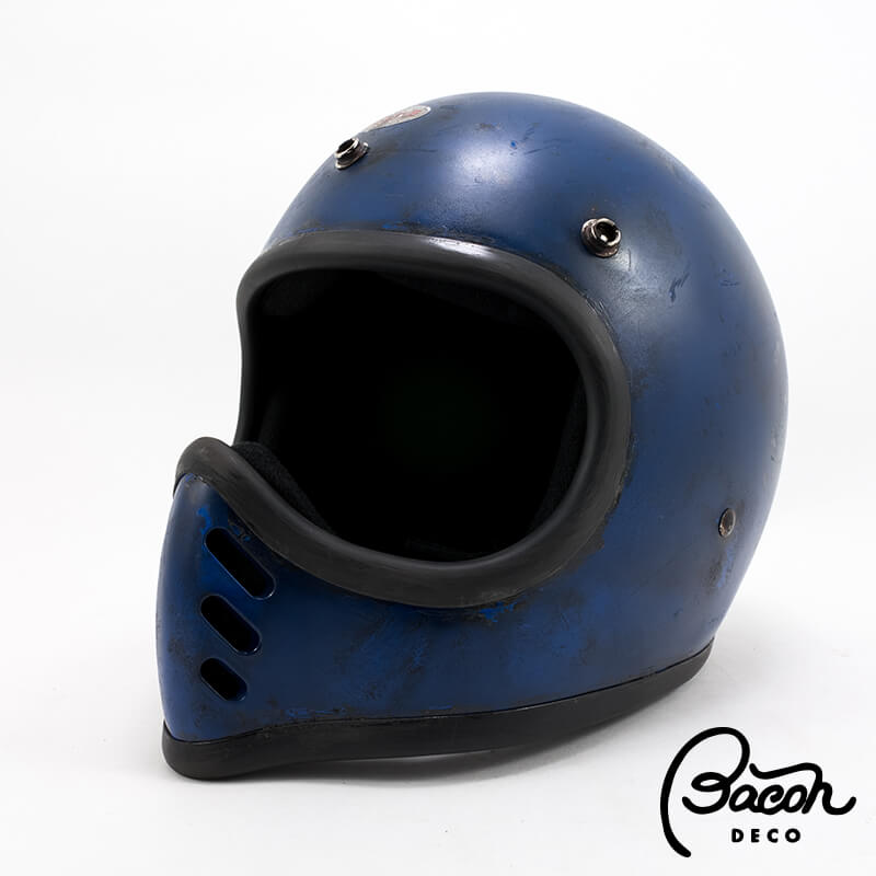 BACONヘルメット BEETLE MTX ブルー ナチュラルエイジング