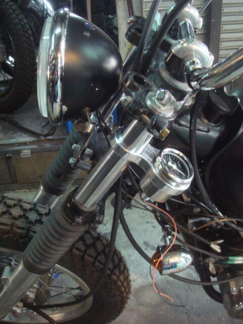 ミニミニメーター フォークマウントキット SR400/500 XS650