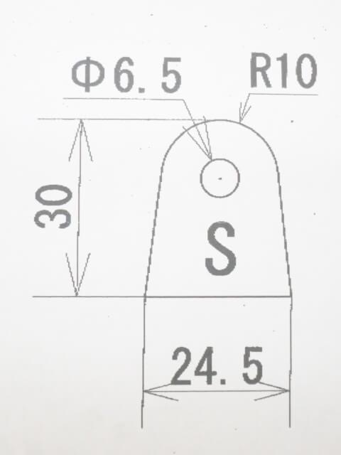 ウェルドタブSサイズ 6ミリ厚 スチール 10p