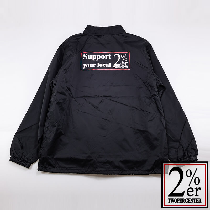 2%ER コーチJKT Support your local logo ブラック