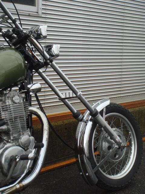 SR400/500用 チークバー (フロントスタビライザー)【BIKE】2%er オリジナル
