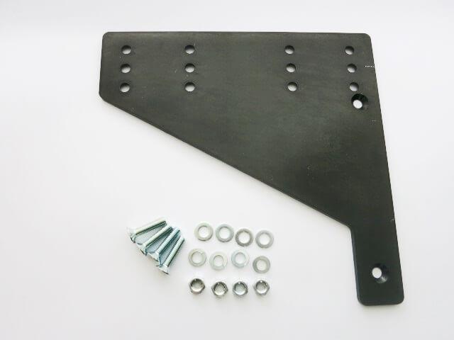 サイドナンバー横向き変換プレート ブラック 汎用