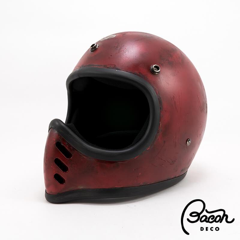 BACONヘルメット BEETLE MTX レッド ナチュラルエイジング