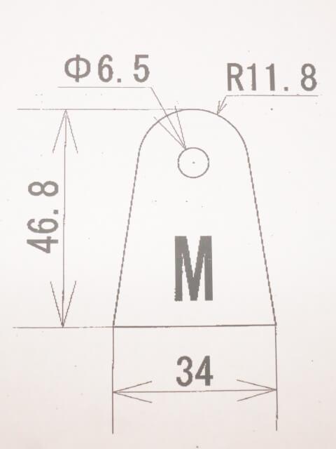 ウェルドタブMサイズ 3ミリ ステンレス 2p