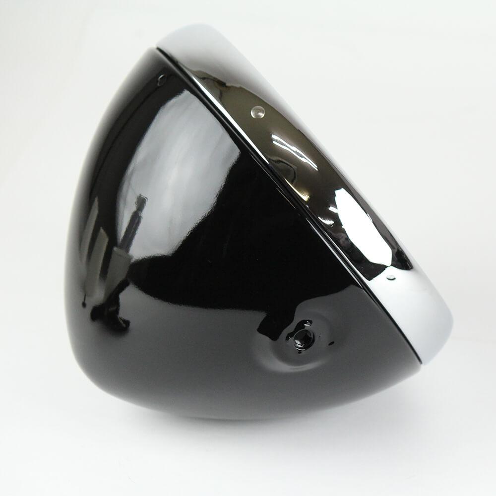 7インチ ルーカスタイプヘッドライトケース ブラック