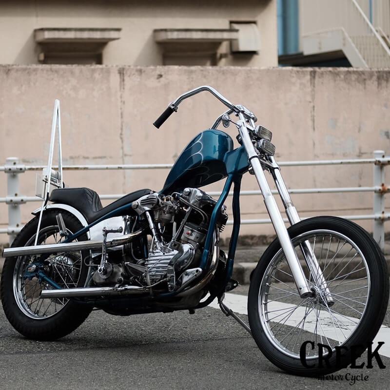 シックスベントハンドル 1インチ CREEK MOTORCYCLE製