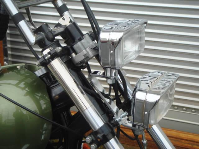 SR,XS650 デュアルライトキット ディクシー 角目2灯
