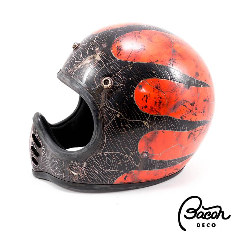 BACONヘルメット BEETLE MTX ブラック/オレンジ