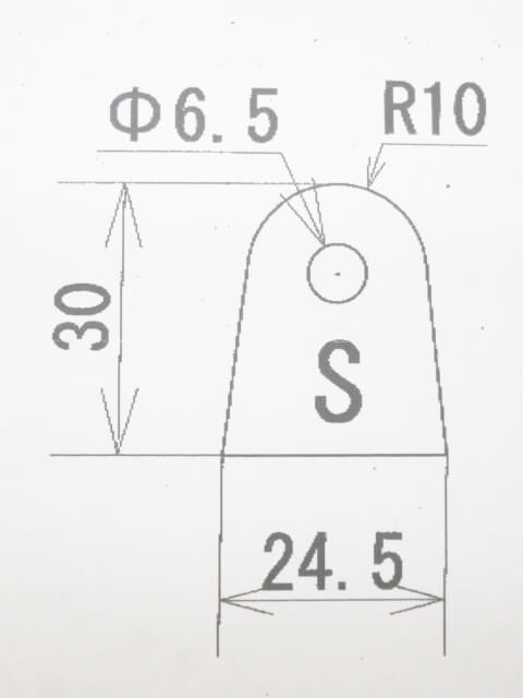 ウェルドタブSサイズ 4.5ミリ厚 スチール 10p