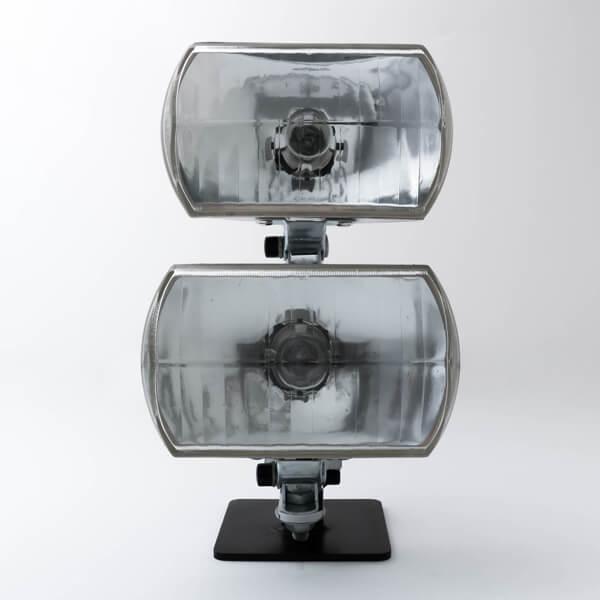 SR,XS650 デュアルライトキット ミラー 角目2灯