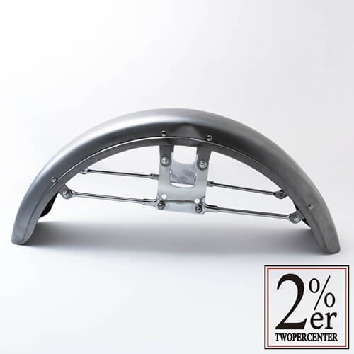 【SR400/500用 2%er Original Iron Front Fender】フロントフェンダー【ボルトオン】2%オリジナル