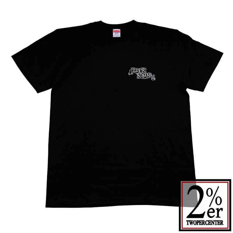 2%er (ツーパーセンター)【Original NOMAD TEE】BK【オリジナル Tシャツ】