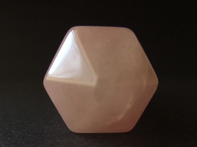 先端部 きれいな六角形