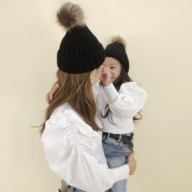 ママも可愛くなっちゃうニット帽♡