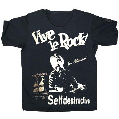 JOE ALCOHOL VIVE LE ROCK VIVE LE ROCK T-Shirts silverラメ