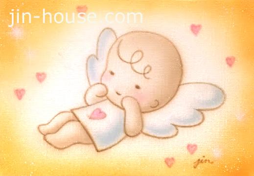 エアブラシで描かれたふんわり天使です