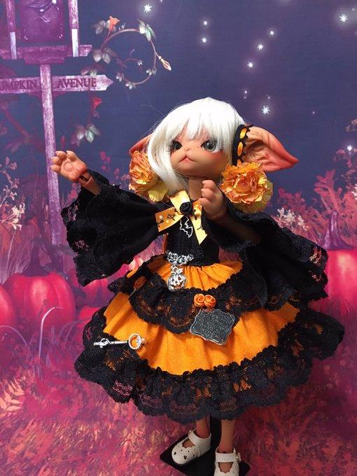 [LOVE SHOCK DROP] ハロウィン姫袖ワンピースOR ミスキティサイズ
