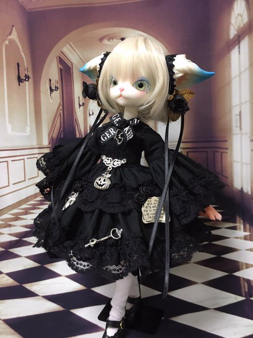 [LOVE SHOCK DROP] ハロウィン姫袖ワンピースBK ミスキティサイズ