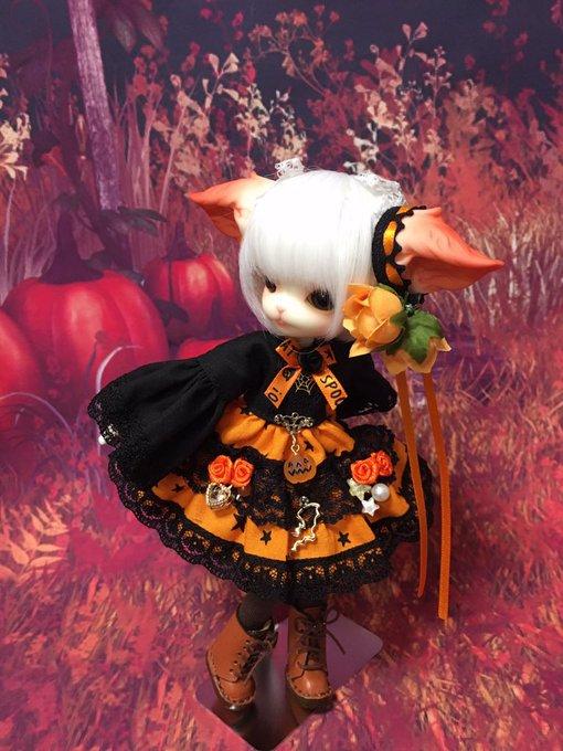 [LOVE SHOCK DROP] ハロウィン姫袖ワンピースOR ミニキティサイズ