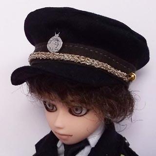 [からすねこ] ミリタリー帽子黒 小
