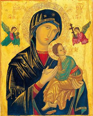 ご絵「絶えざる御助けの聖母」
