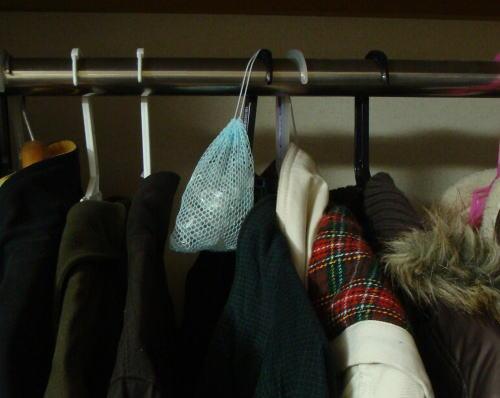 クロゼットで衣類の浄化