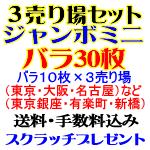 3売り場セット/ジャンボミニ・バラ30枚