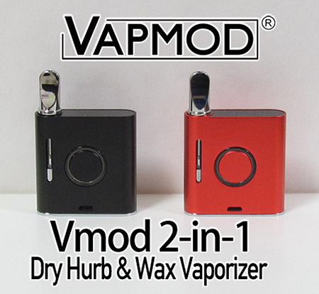 Vapmod Vmod 2-in-1 WAX & Dry Hurb Vaporizer 900mAh - 電子タバコ