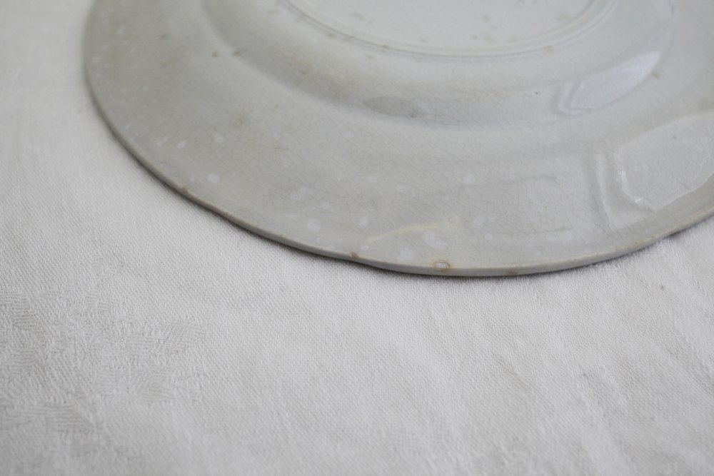 フランスアンティーク青デザート皿Bの画像