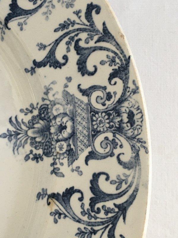 クレイユモントローブルー大皿の画像