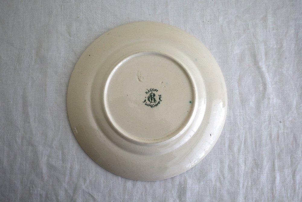 フランスアンティークグリーンシェル平皿の画像