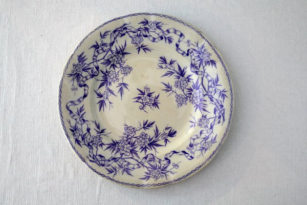 紫サルグミンヌアンティークデザートプレートの画像