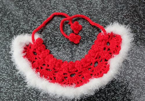 編み付け襟(red)