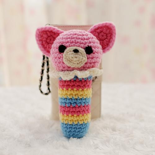 編みおもちゃ(カラフルチワワ)